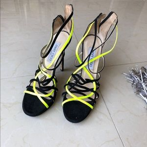 Black and yellow Jimmy Choo, fair condition
